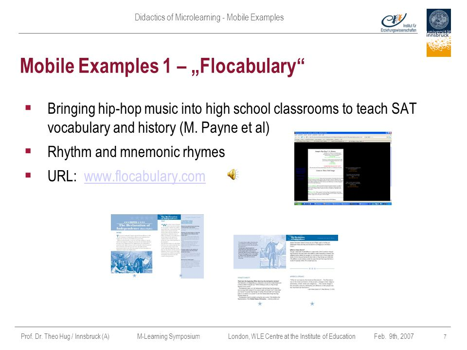 "Mobile Examples 1 – ""Flocabulary"
