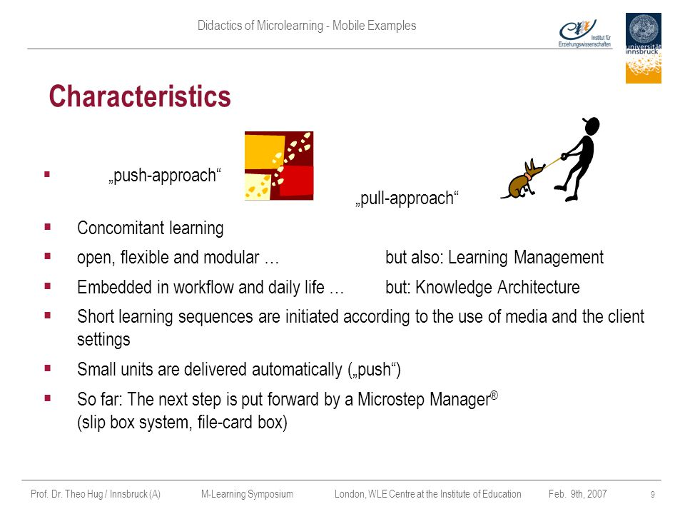 Characteristics Concomitant learning