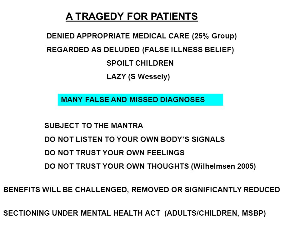 A TRAGEDY FOR PATIENTS DENIED APPROPRIATE MEDICAL CARE (25% Group)
