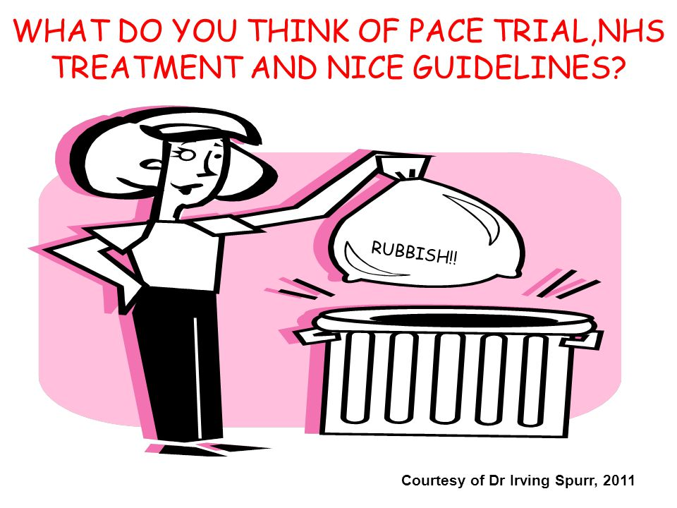 WHAT DO YOU THINK OF PACE TRIAL,NHS TREATMENT AND NICE GUIDELINES