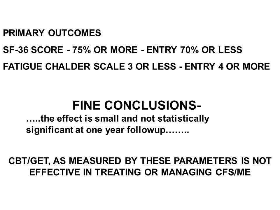 FINE CONCLUSIONS- PRIMARY OUTCOMES