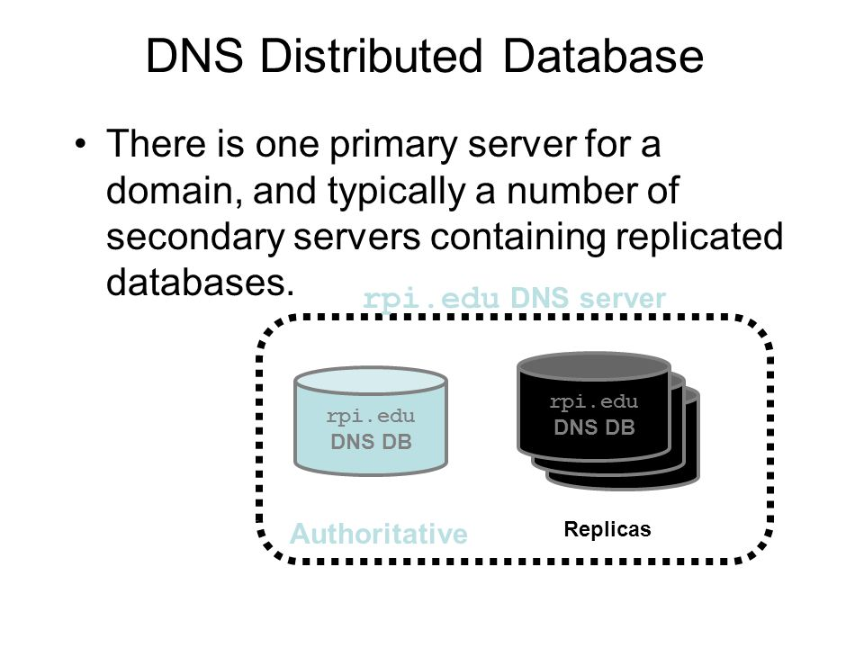 DNS Distributed Database
