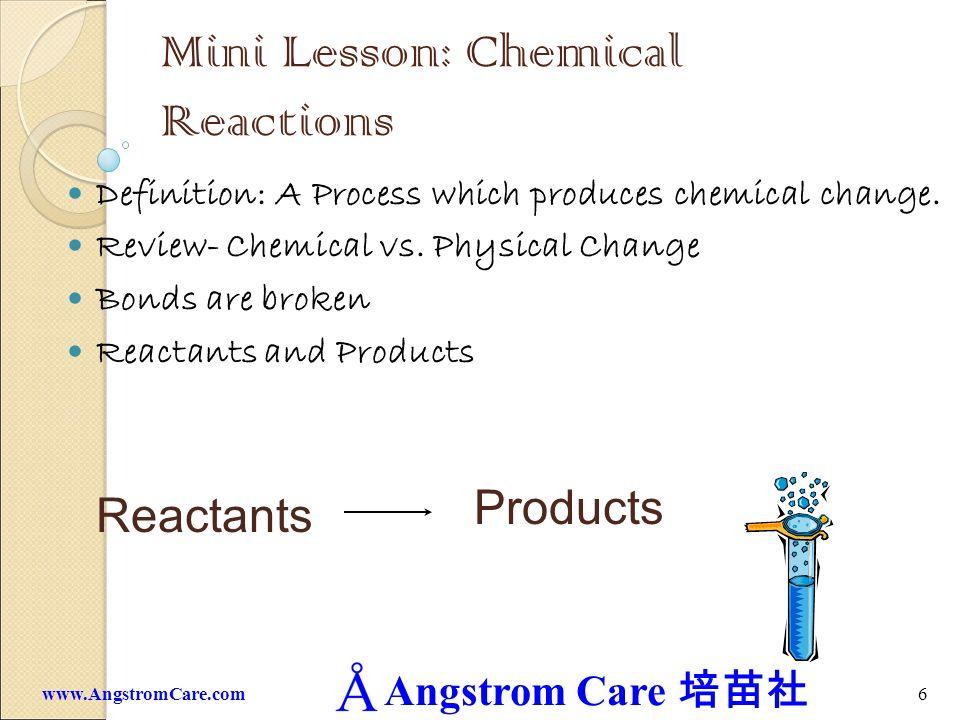 Mini Lesson: Chemical Reactions