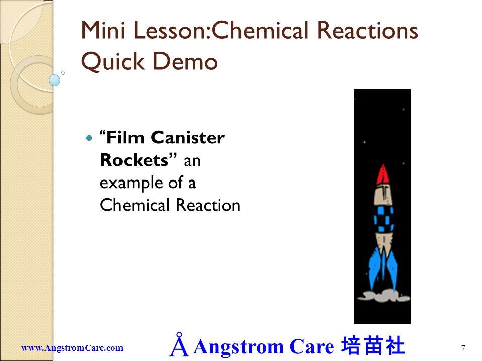 Mini Lesson:Chemical Reactions Quick Demo
