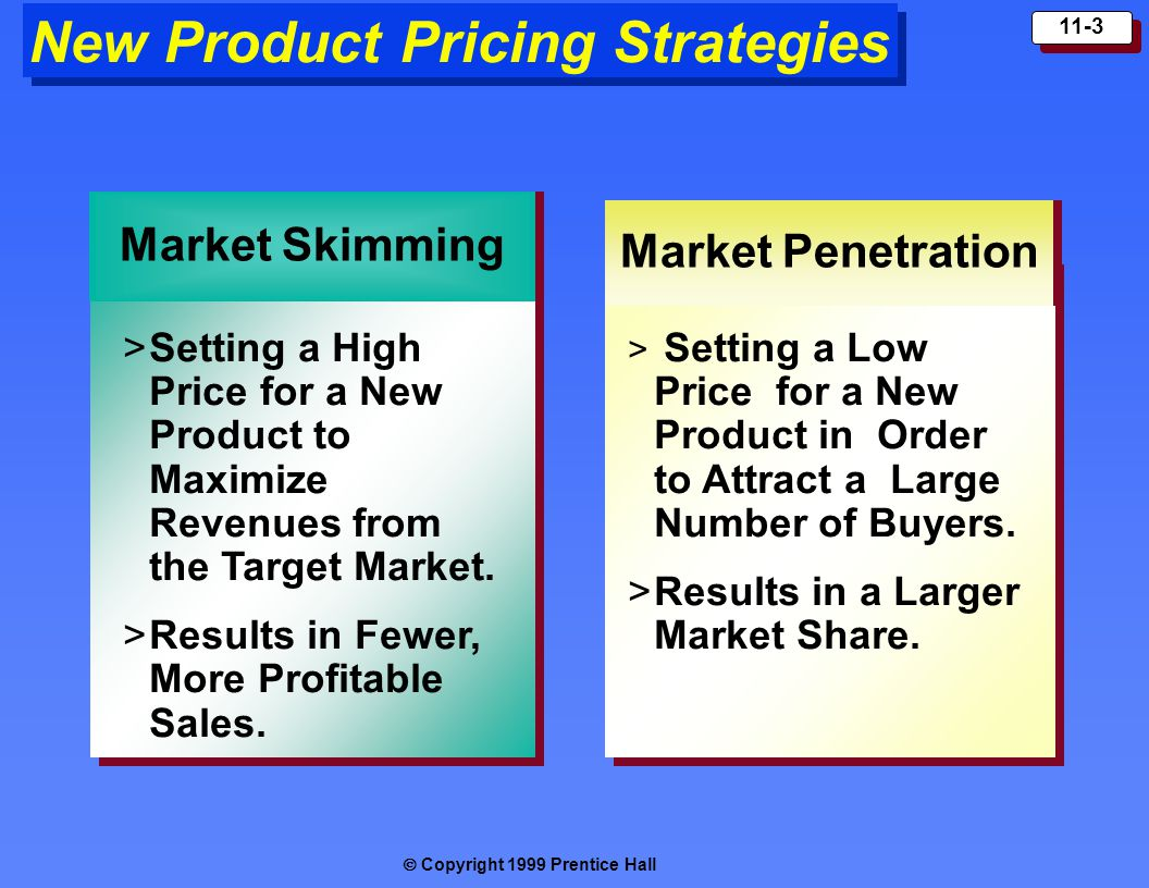 Market penetration pricing strategies