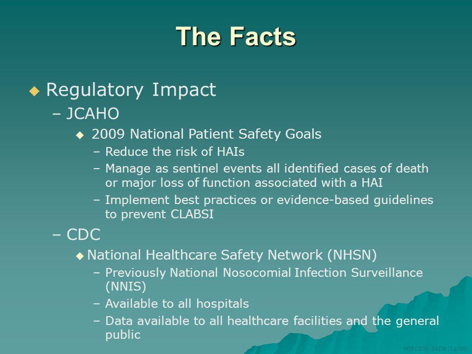 The Facts Regulatory Impact JCAHO CDC