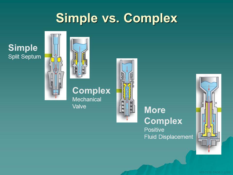 Simple vs. Complex Simple Complex More Complex Split Septum Mechanical