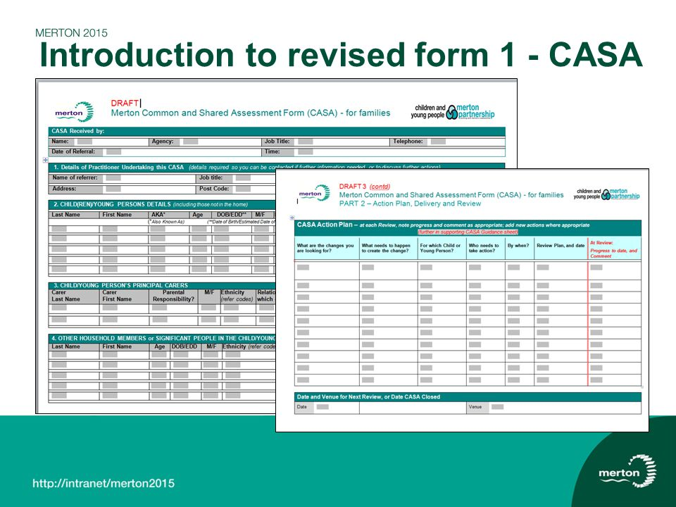 Introduction to revised form 1 - CASA