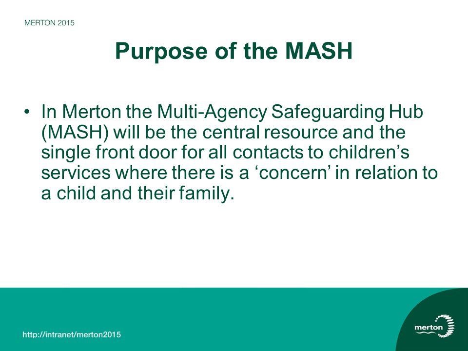Purpose of the MASH