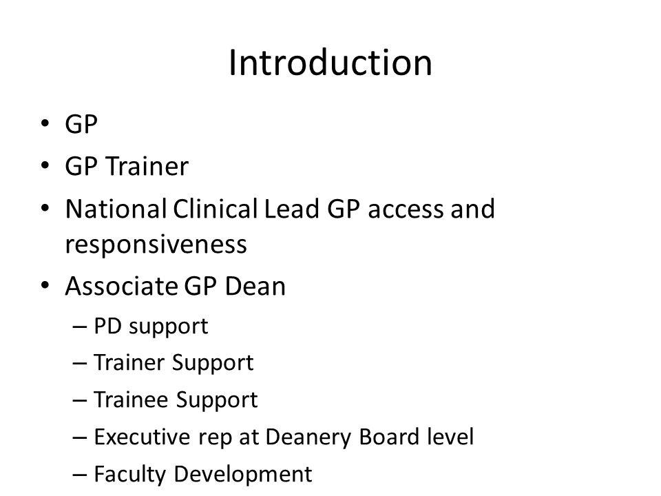 Introduction GP GP Trainer