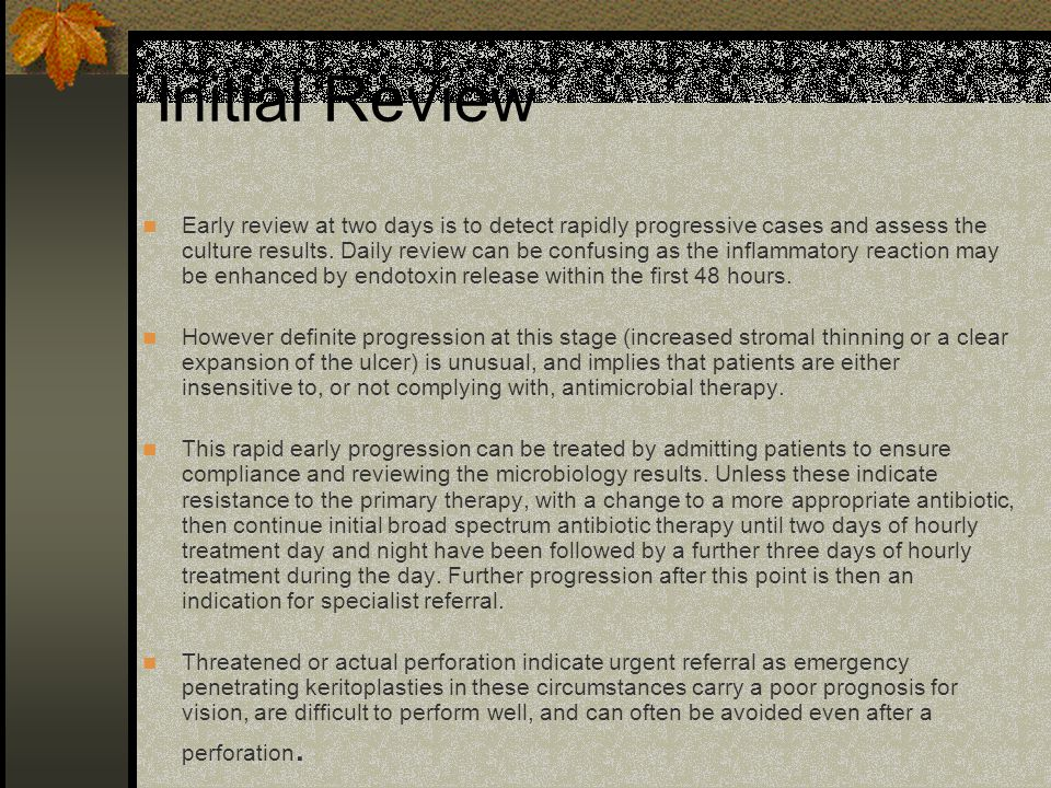 Initial Review