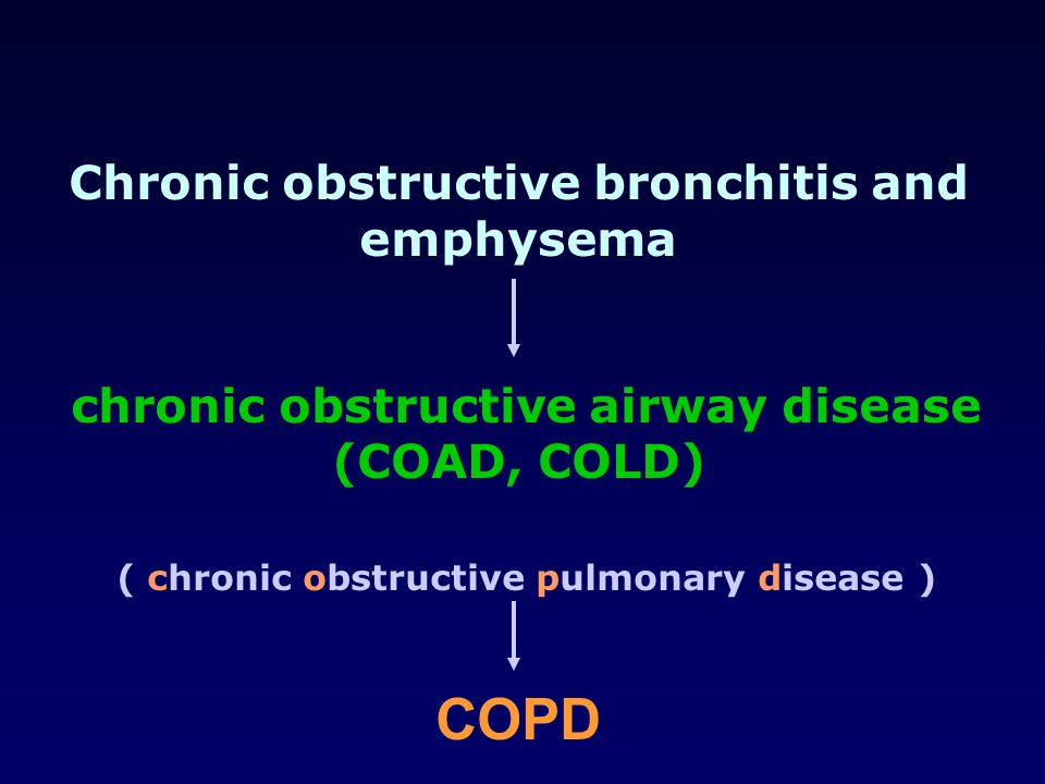 Chronic obstructive bronchitis and emphysema
