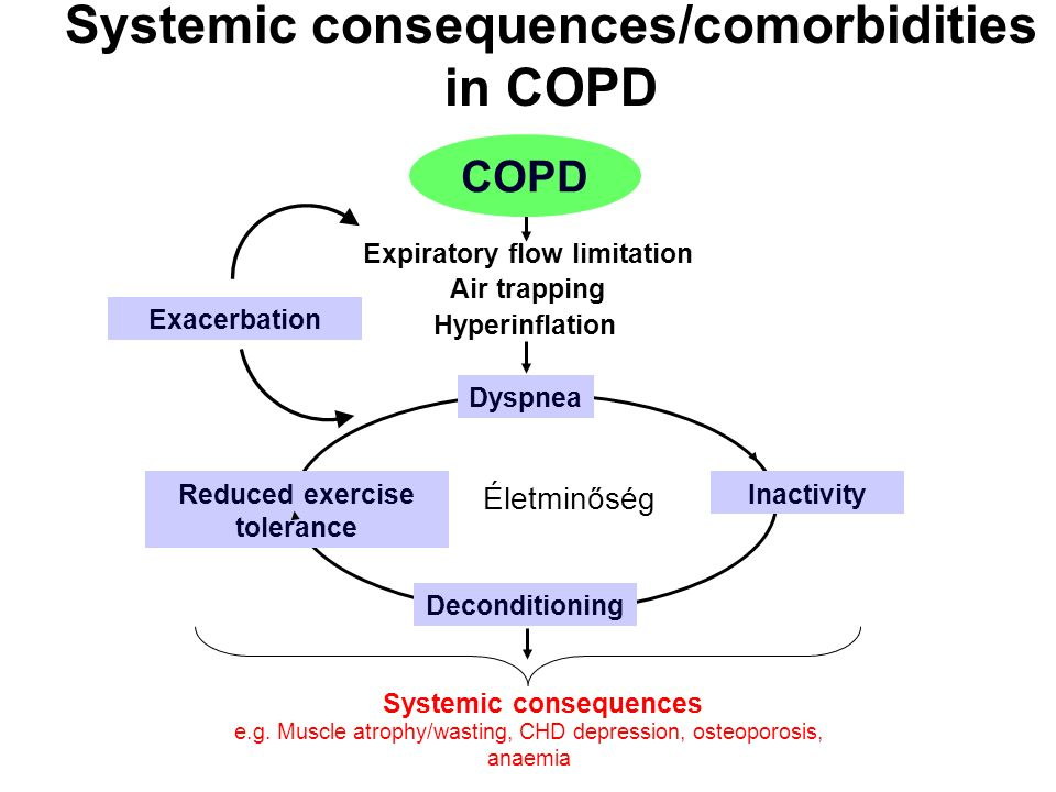 Systemic consequences/comorbidities in COPD