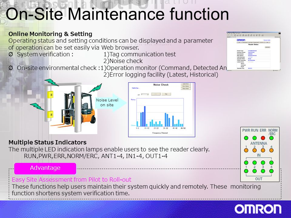 On-Site Maintenance function