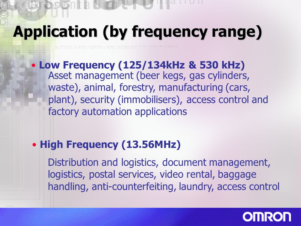 Application (by frequency range)