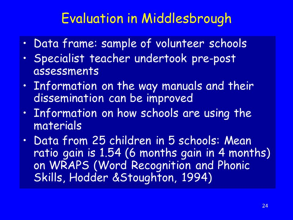 Evaluation in Middlesbrough