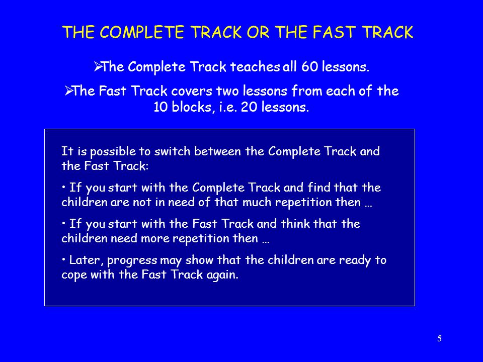 The Complete Track teaches all 60 lessons.