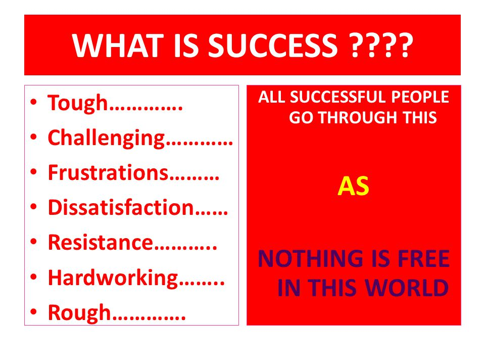 ALL SUCCESSFUL PEOPLE GO THROUGH THIS NOTHING IS FREE IN THIS WORLD