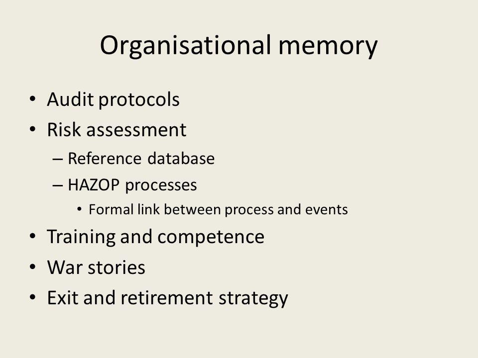 Organisational memory