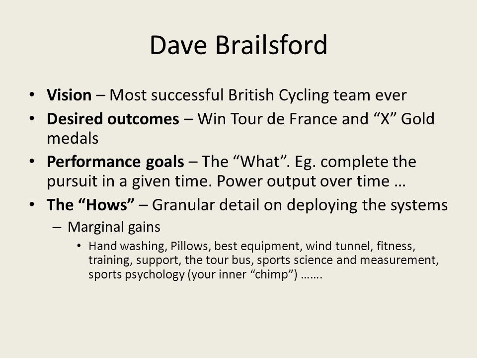 Dave Brailsford Vision – Most successful British Cycling team ever