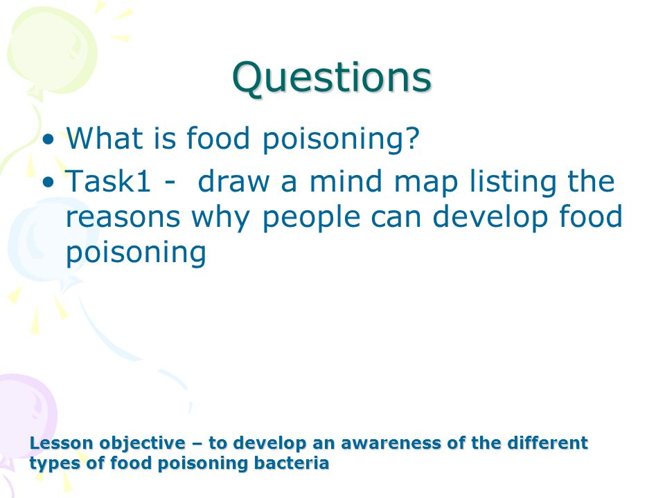 Questions What is food poisoning