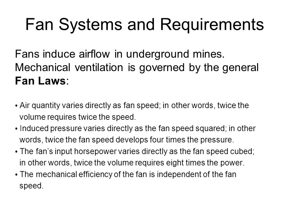 Fan Systems and Requirements