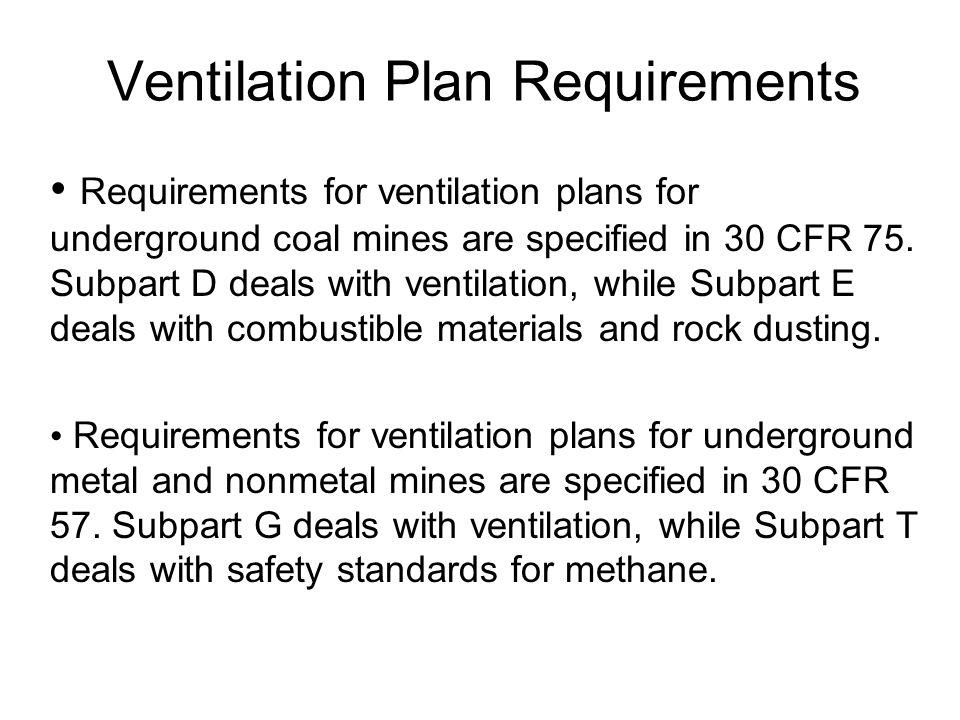Ventilation Plan Requirements