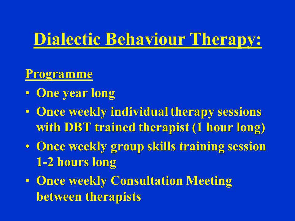 Dialectic Behaviour Therapy: