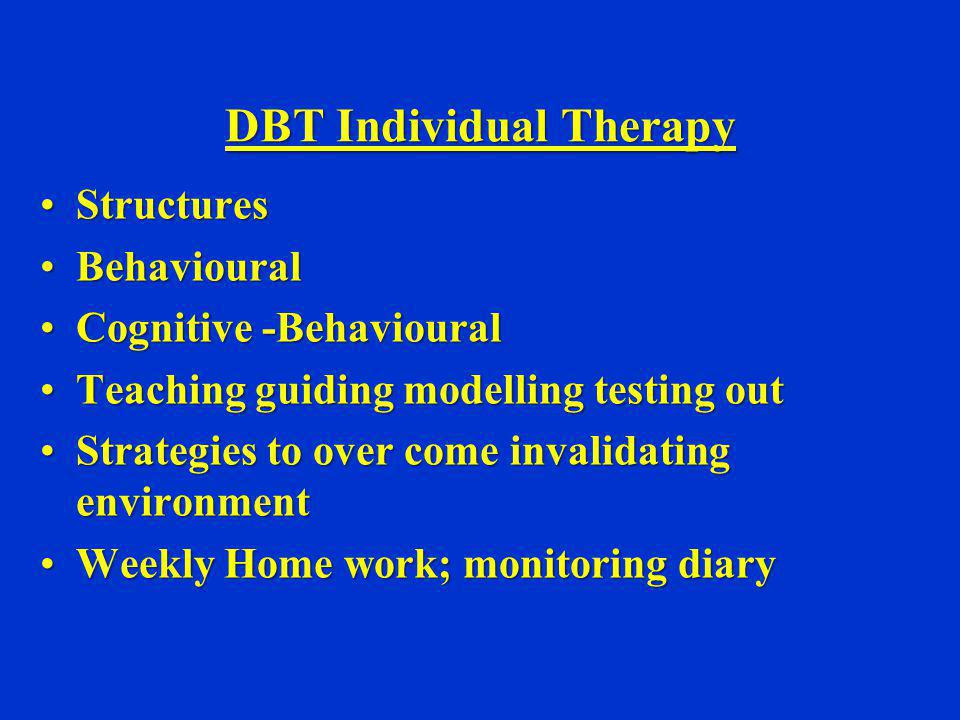 DBT Individual Therapy
