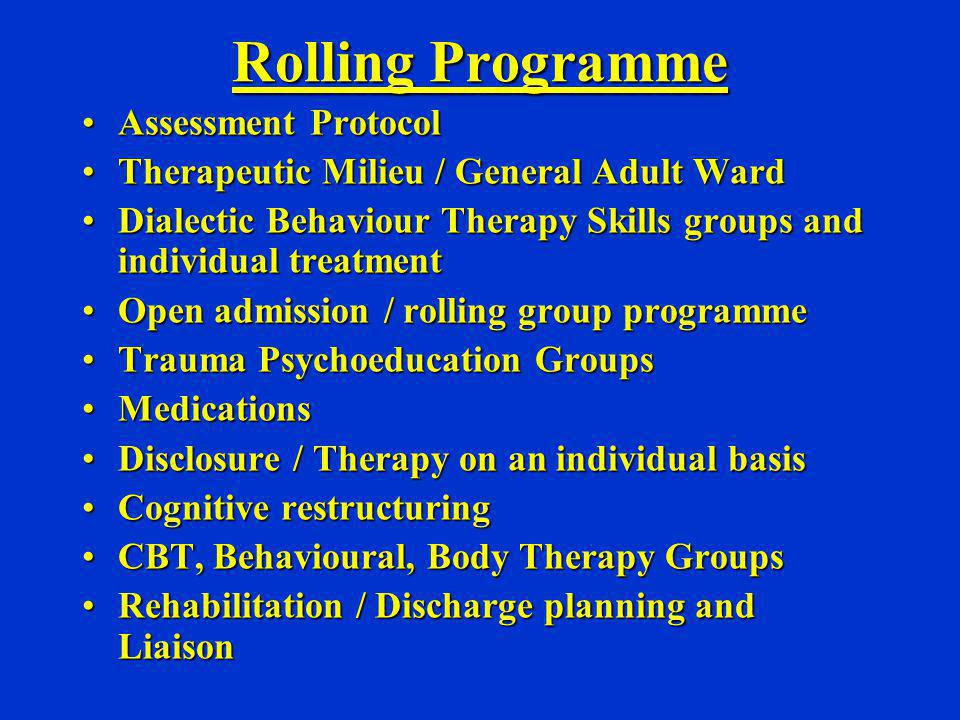 Rolling Programme Assessment Protocol
