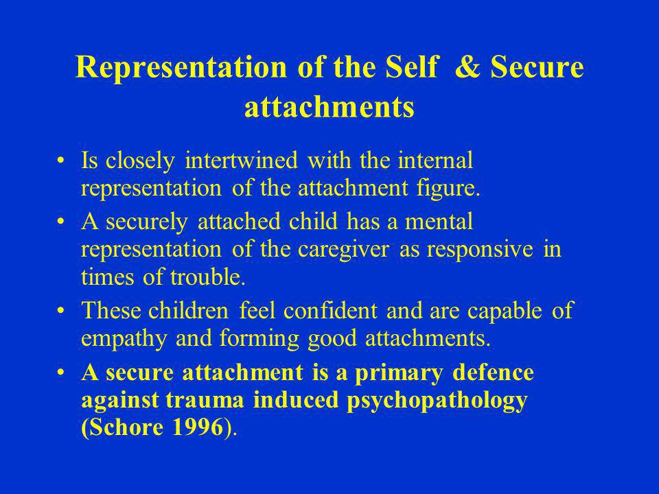 Representation of the Self & Secure attachments
