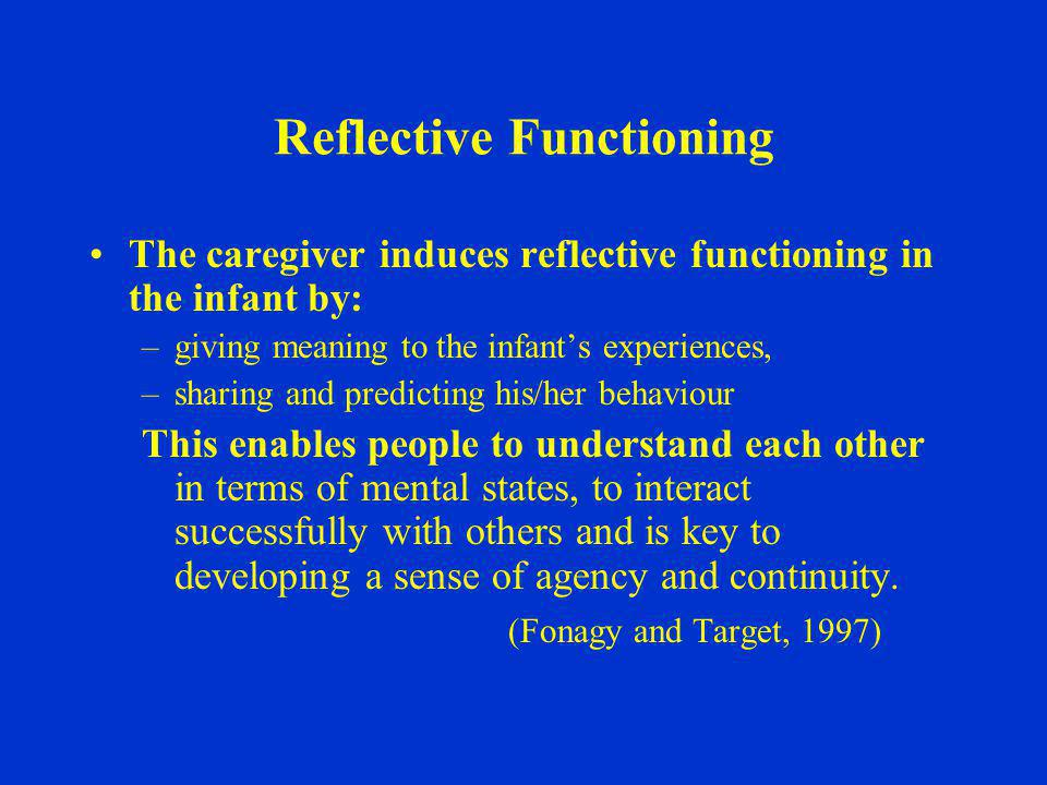 Reflective Functioning