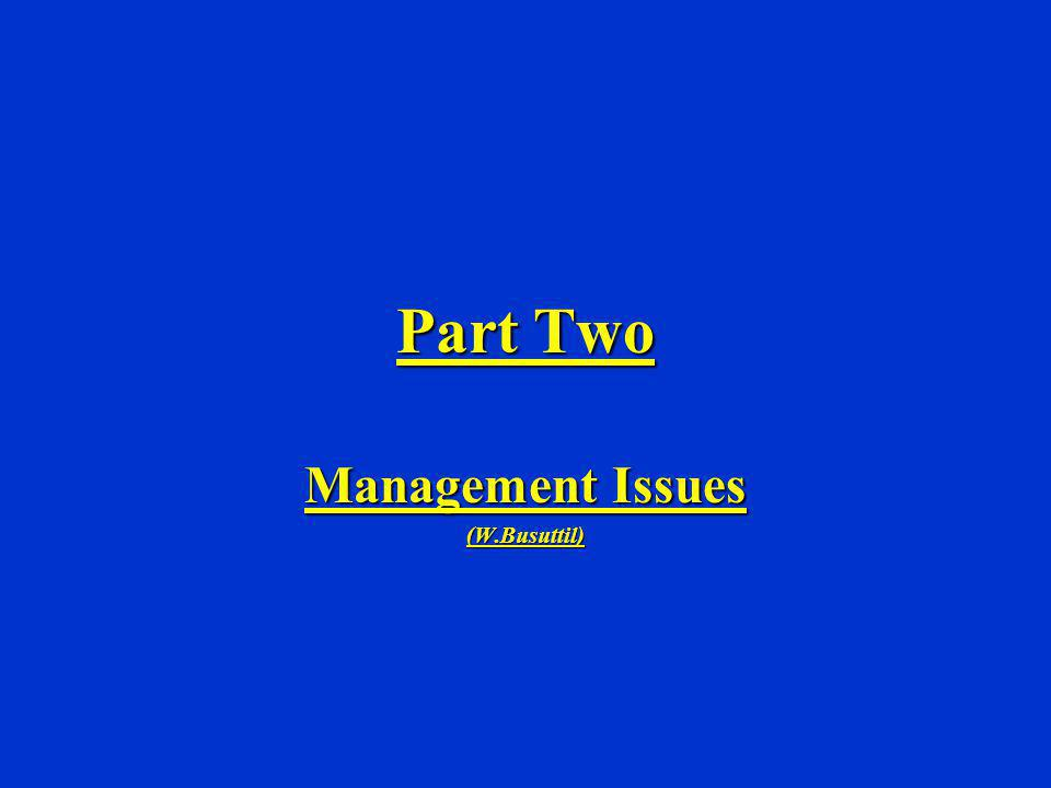 Management Issues (W.Busuttil)