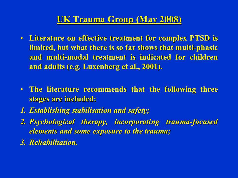 UK Trauma Group (May 2008)