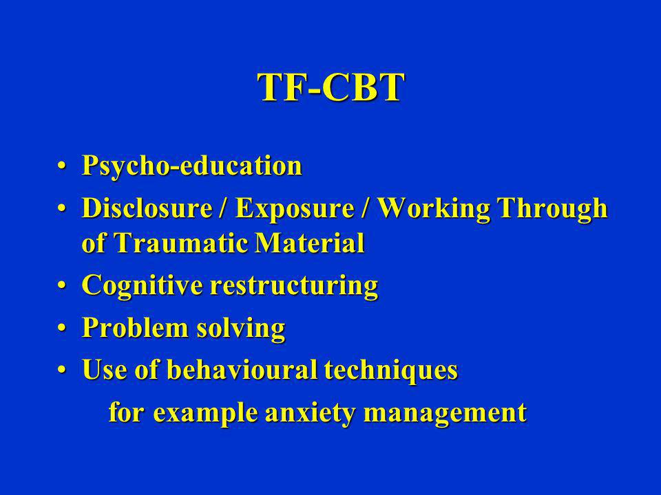 TF-CBT Psycho-education