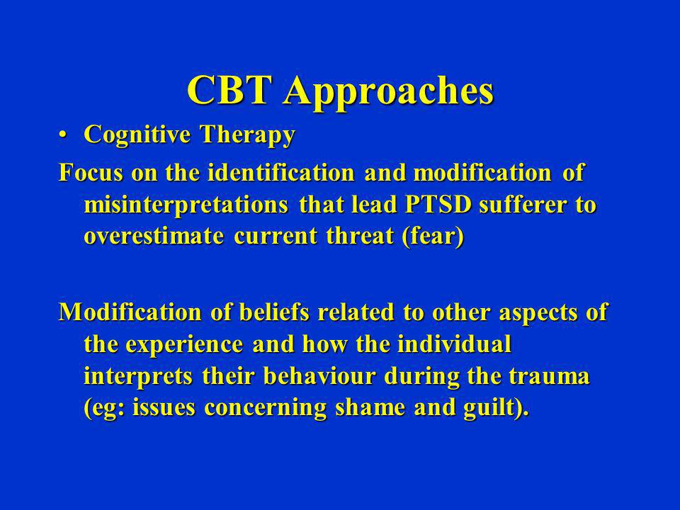 CBT Approaches Cognitive Therapy