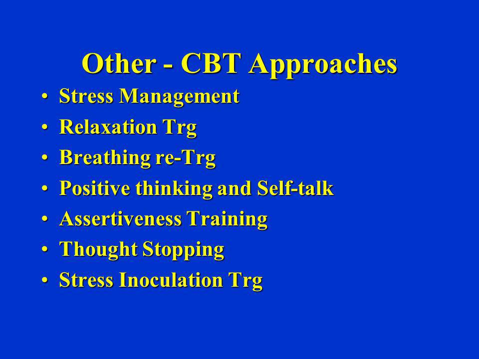 Other - CBT Approaches Stress Management Relaxation Trg