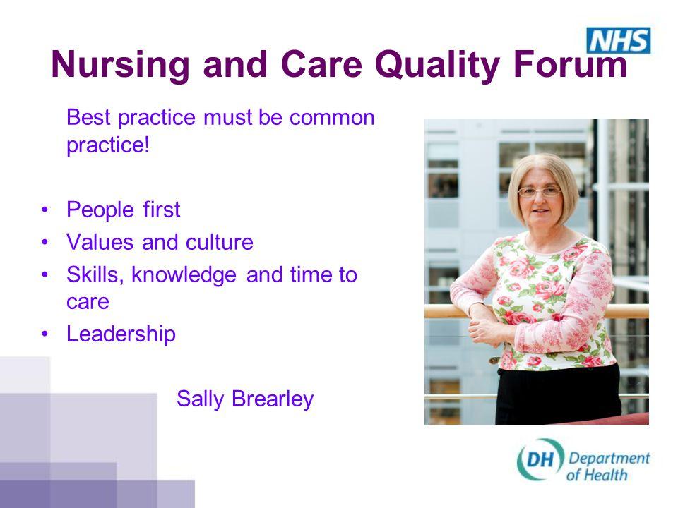 Nursing and Care Quality Forum