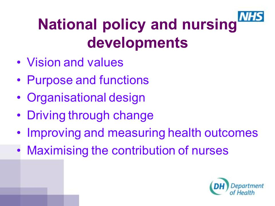National policy and nursing developments