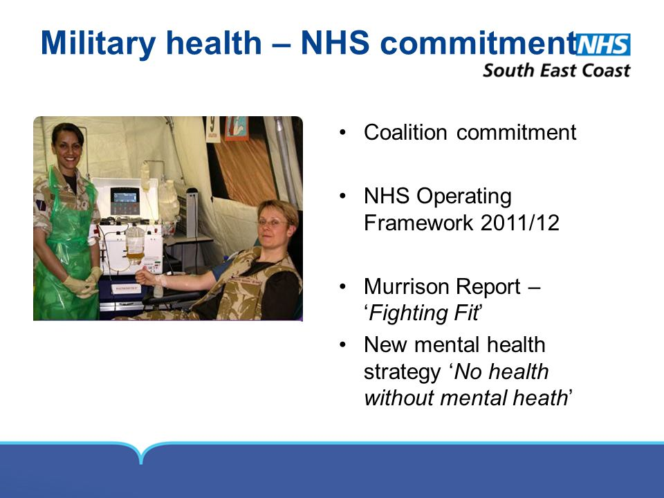 Military health – NHS commitment
