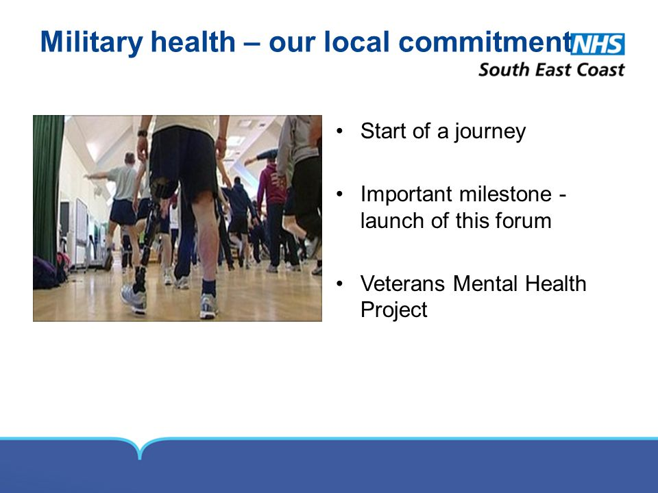 Military health – our local commitment