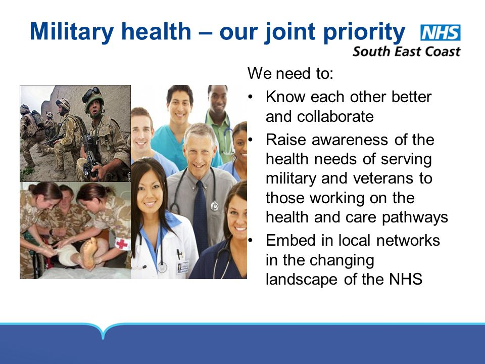 Military health – our joint priority