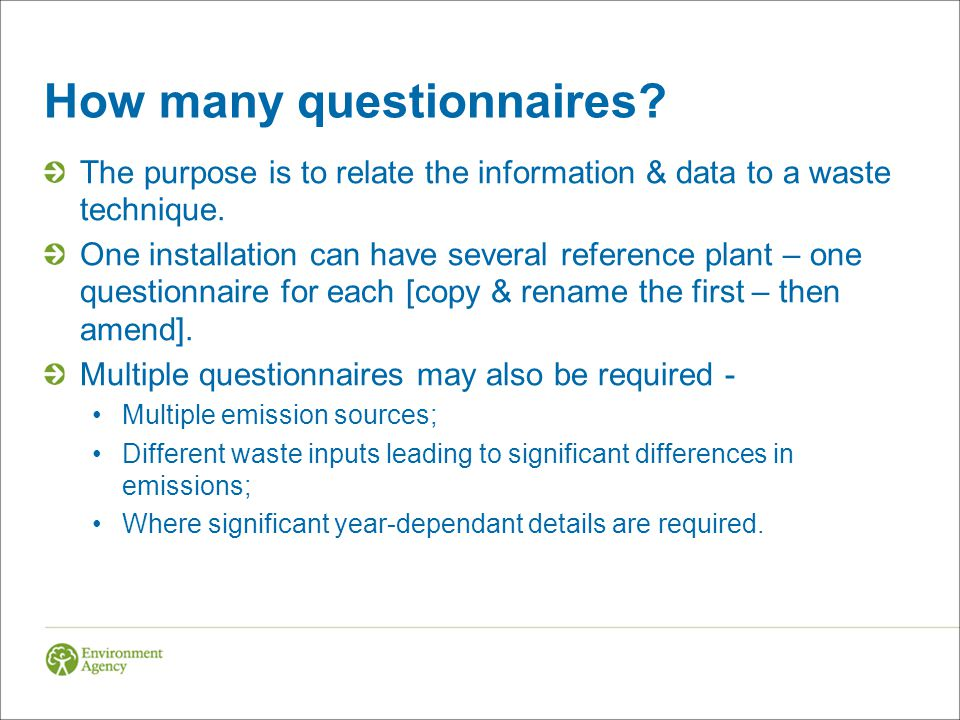 How many questionnaires