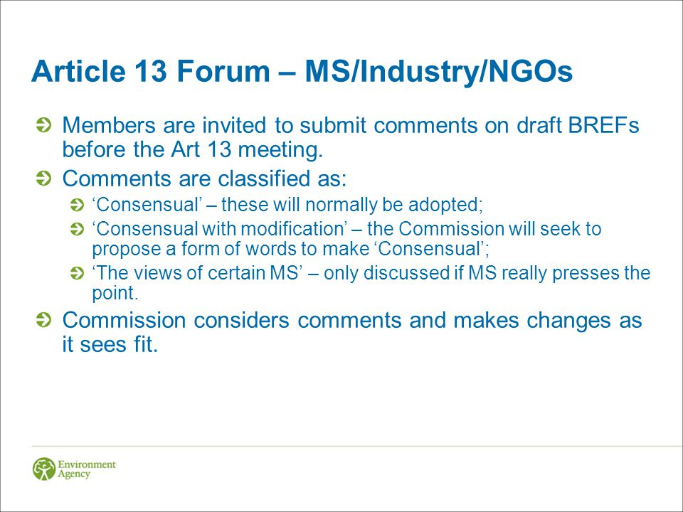 Article 13 Forum – MS/Industry/NGOs