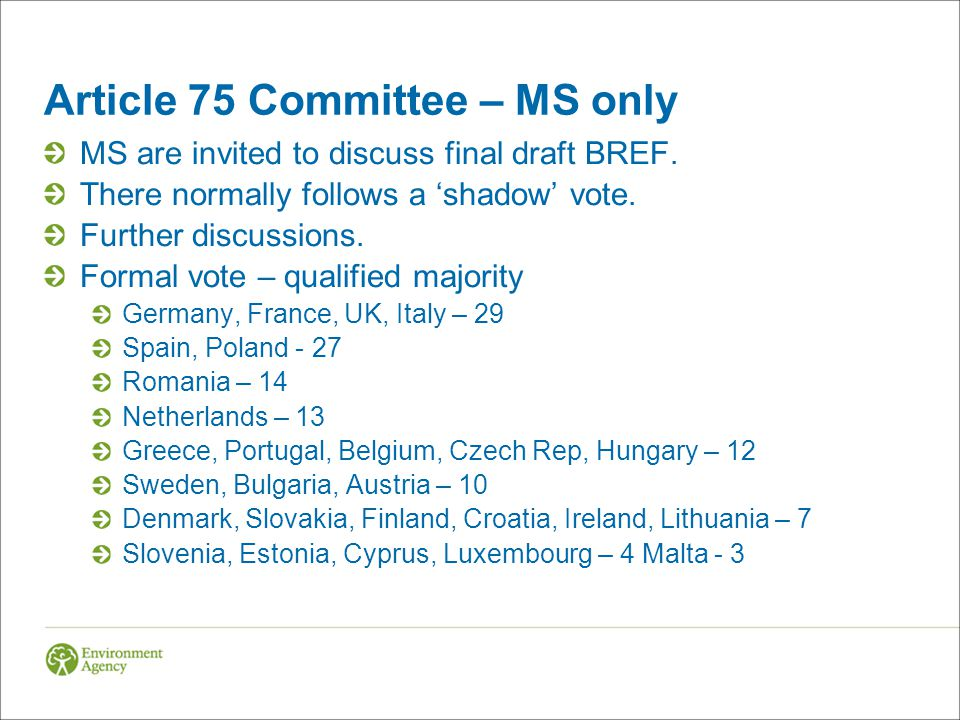 Article 75 Committee – MS only