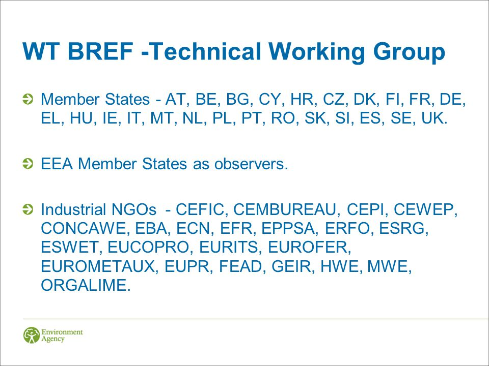 WT BREF -Technical Working Group