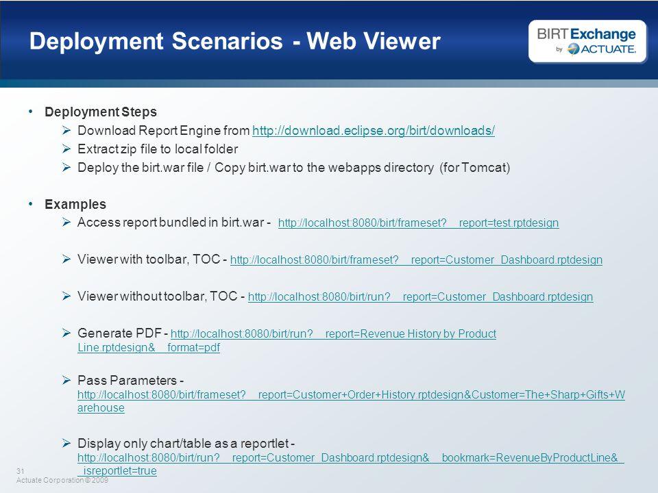 Deployment Scenarios - Web Viewer