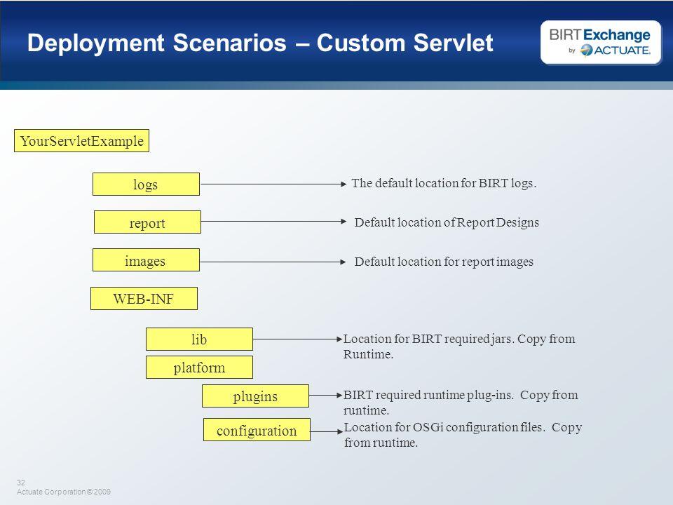 Deployment Scenarios – Custom Servlet