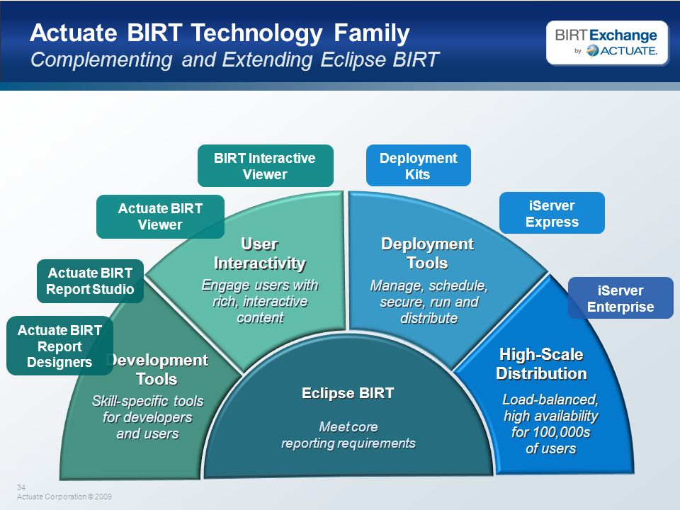 Actuate BIRT Technology Family
