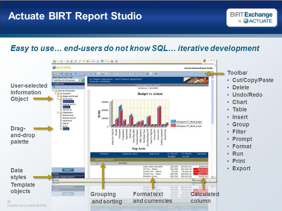 Actuate BIRT Report Studio
